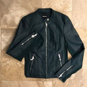 NWT Leather (minus leather) Express Woman's Coat S